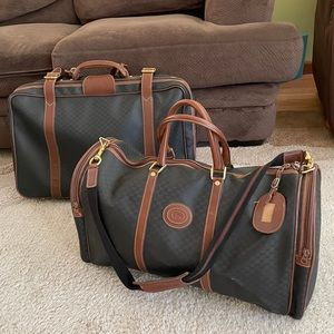 Vintage Gucci Luggage Set 2 PC Duffle and Suitcase